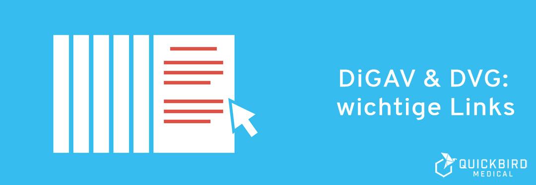 DiGAV und DVG: wichtige Links
